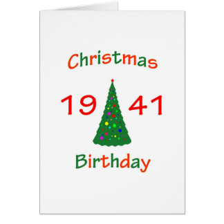 1941 Christmas Birthday Card