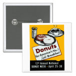 1941 Donut Poster Button