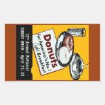 1941 Donut Poster Rectangular Sticker
