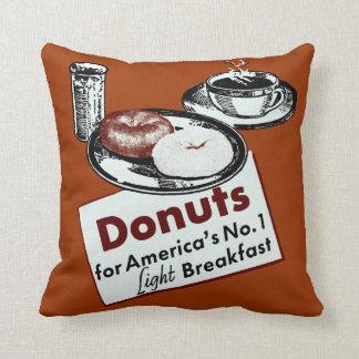 1941 Donut Poster Throw Pillow