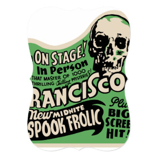 1941 Francisco Spook Frolic Card