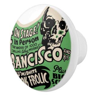 1941 Francisco Spook Frolic Ceramic Knob