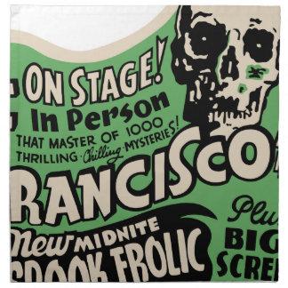 1941 Francisco Spook Frolic Cloth Napkin