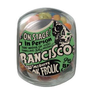 1941 Francisco Spook Frolic Glass Jar