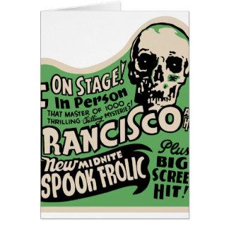 1941 Francisco Spook Frolic Greeting Card