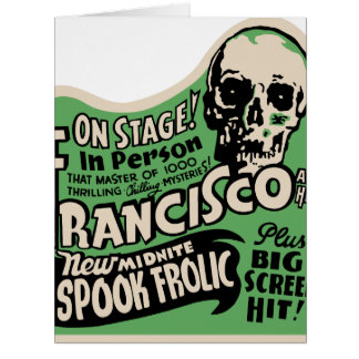 1941 Francisco Spook Frolic Large Greeting Card
