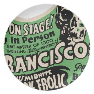 1941 Francisco Spook Frolic Melamine Plate