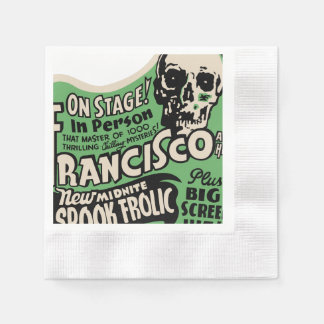1941 Francisco Spook Frolic Paper Napkin