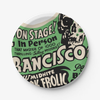 1941 Francisco Spook Frolic Paper Plate