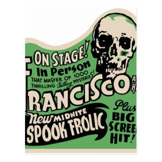 1941 Francisco Spook Frolic Postcard