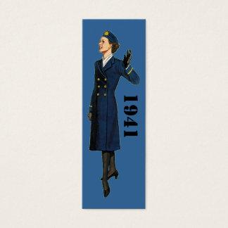 1941 Military Fashion for Women Mini Business Card