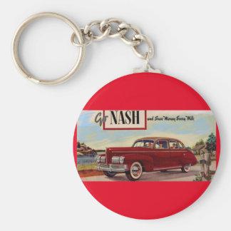 1941 Nash automobile ad Keychain