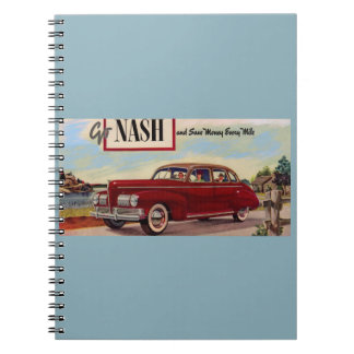 1941 Nash automobile ad Notebook