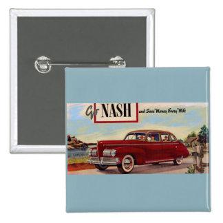 1941 Nash automobile ad Pinback Button