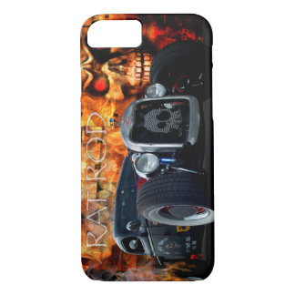 1941 Rat Rod Pickup with skulls on fire iPhone 8/7 Case