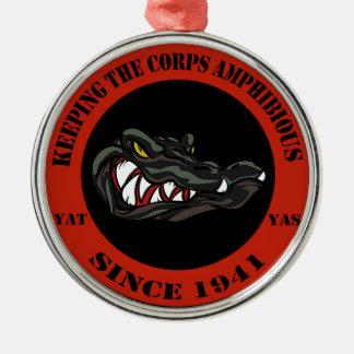 1941 Red Metal Ornament