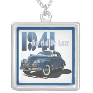1941 Special De Luxe Coupe Silver Plated Necklace