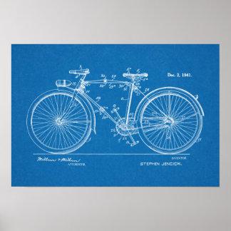1941 Vintage Bicycle Patent Blueprint Art Print