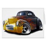 1941 Willys Black-Flames Car Card