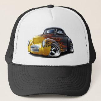 1941 Willys Black-Flames Car Trucker Hat