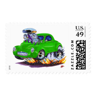 1941 Willys Green Car Stamp