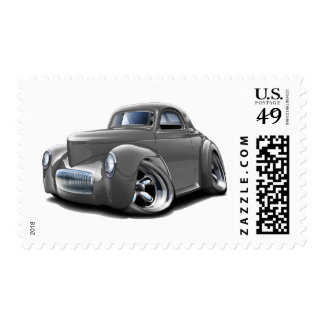1941 Willys Grey Car Postage