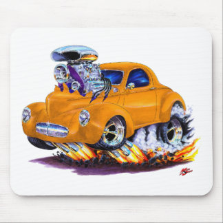 1941 Willys Orange Car Mouse Pad