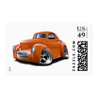 1941 Willys Orange Car Postage