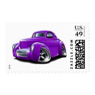 1941 Willys Purple Car Postage