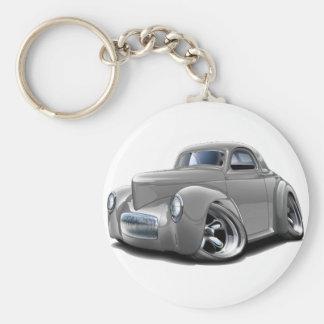 1941 Willys Silver Car Keychain