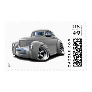 1941 Willys Silver Car Postage