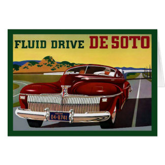 1942 DeSoto Chrysler Classic Car Card
