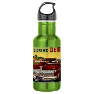 1942 DeSoto Chrysler Classic Car Stainless Steel Water Bottle