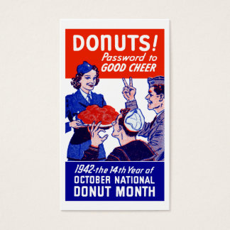 1942 Donut Month Business Card