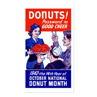 1942 Donut Month Double-Sided Standard Business Cards (Pack Of 100)