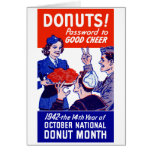 1942 Donut Month Greeting Cards