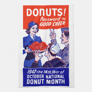 1942 Donut Month Towel