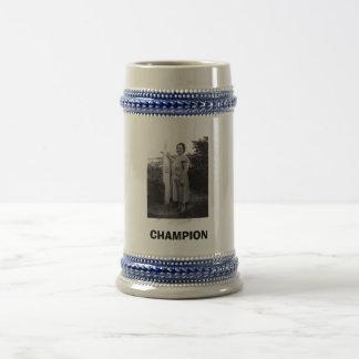 1942 Fighting Champ, CHAMPION Beer Stein