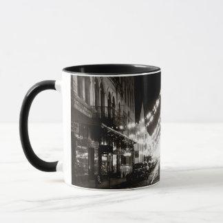 1942 Honolulu's Fort Street at Night Mug