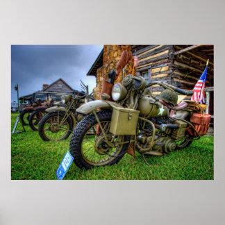 1942 Military Harley Davidson Poster