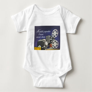 1942 Movie Camera and Projector Baby Bodysuit