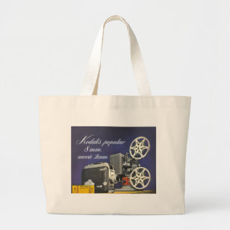 1942 Movie Camera and Projector Large Tote Bag