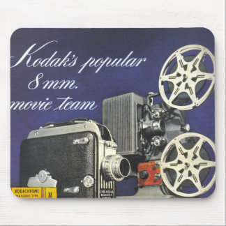 1942 Movie Camera and Projector Mouse Pad