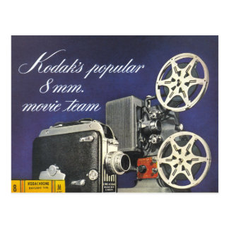 1942 Movie Camera and Projector Postcard