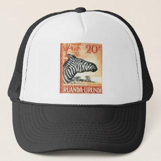 1942 Ruanda Urundi Zebra Postage Stamp Trucker Hat