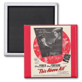 1942 This Above All movie poster 2 Inch Square Magnet