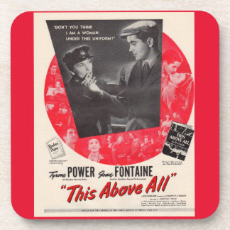 1942 This Above All movie poster Beverage Coaster