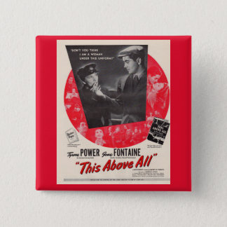 1942 This Above All movie poster Pinback Button