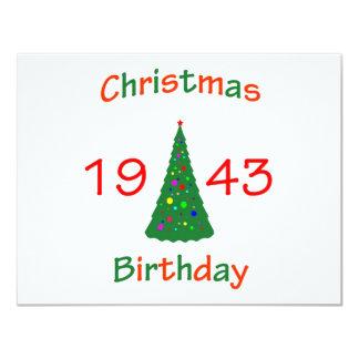 1943 Christmas Birthday Card