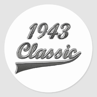 1943 Classic Classic Round Sticker